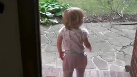Baby Girl Waits Impatiently For Her Dad To Arrive From Work Every Single Day