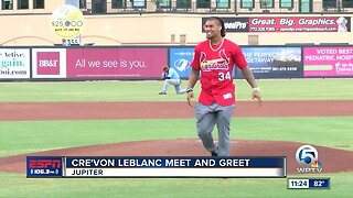 Cre'Von Leblanc Meet and Greet at Roger Dean Chevrolet Stadium