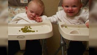 """""""Baby Boy Steals His Sleeping Twin Brother's Food"""""""