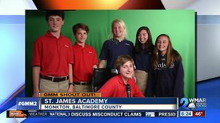 Good morning from students at St. James Academy! - Video