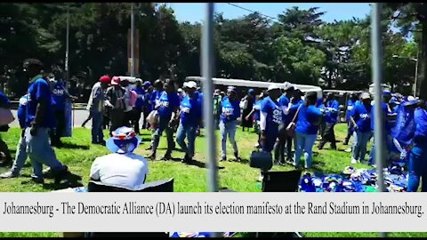 SOUTH AFRICA - Johannesburg -The Democratic Alliance manifesto Launch (Video) (9yW)
