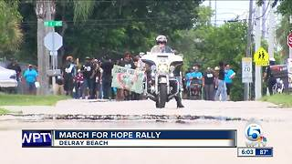 March for Hope rally held in Delray Beach - Video