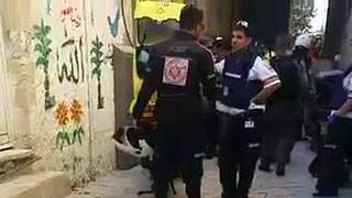 Ambulance Crews Respond After Shots Fired in Jerusalem's Old City - Video