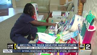 ABC2 gets ready to fill the truck for Hurricane Harvey victims - Video