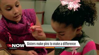 Sisters are making pins to make a difference - Video