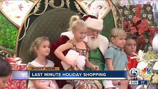 Last minute holiday shopping at The Gardens Mall