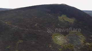 Drone footage shows vast damage caused by Saddleworth Moor fire - Video