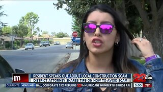 Resident speaks out about local construction scam