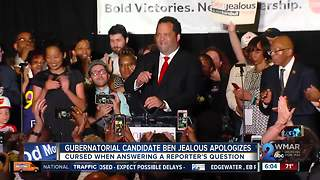Ben Jealous apologizes after cursing when answering reporter's question - Video