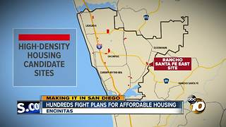 Making It In San Diego: Hundreds fight plans for affordable housing - Video