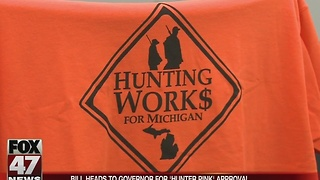 Legislation headed to Governor Snyder that allows hunters to wear pink - Video