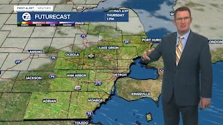 Showers leave this evening