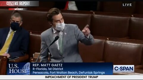 "Rep Matt Gaetz on FIRE (R-FL) To Dems- ""You Lit The Flame, You Lit The Fires!"""