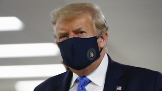 President Trump Wears Mask In Public For The First Time
