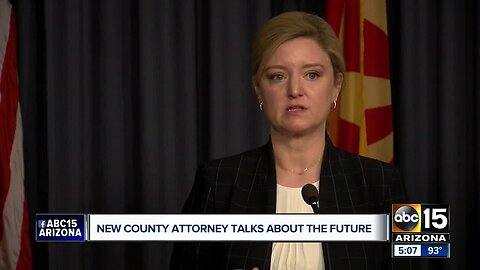 New County Attorney Allister Adel holds her first news conference Thursday