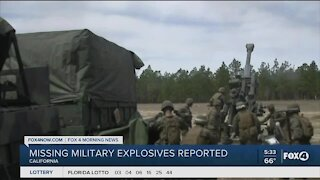 Explosives missing from military base