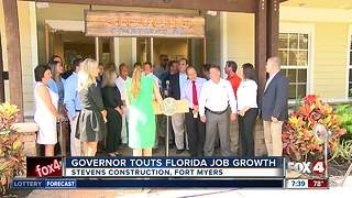 Governor touts Florida job growth - Video
