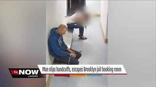 Police looking for man who slipped out of handcuffs, escaped Brooklyn jail - Video