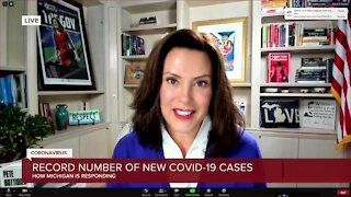 Gov. Whitmer speaks with 7 Action News after highest single-day increase in COVID-19 cases