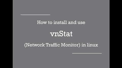 [VPS House] How to install and use vnstat (Network Traffic Monitor) in linux?