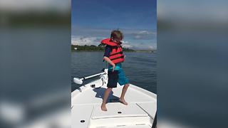 A Little Boy Does A Killer Dance Routine On A Boat - Video