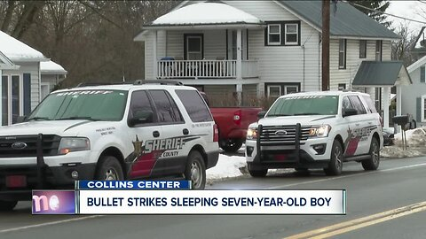 7-year-old struck by bullet while sleeping