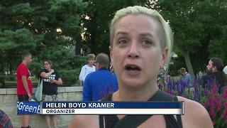 Local candlelight vigil for victims of violence in Charlottesville - Video