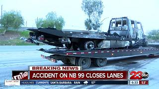 Big rig crash shuts down highway 99 - Video