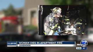 Woman critically injured in Lakewood apartment fire dies, West Metro Fire Rescue says - Video