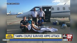 Florida woman relives hippo attack: 'I didn't feel any pain'