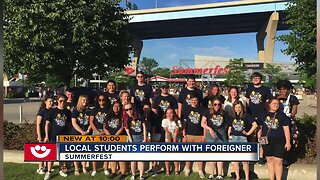 Local Students Preform with Foreigner at Summerfest