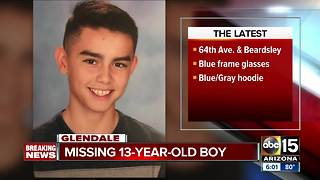 Glendale PD: 13-year-old boy reported missing - Video