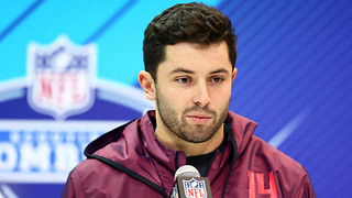 Baker Mayfield Drinks His Own Kool Aid, Says He's the BEST QB in the NFL Draft - Video