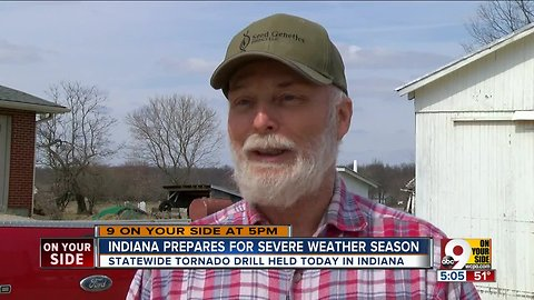 Indiana holds statewide tornado drill to prep for sever weather