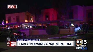 Early morning apartment fire near 23rd Avenue and Dunlap