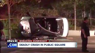 Elderly man dies after Public Square crash - Video