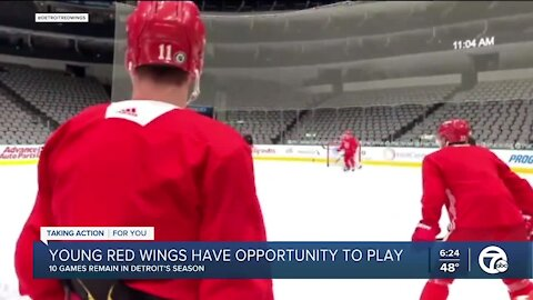 Veleno among young Red Wings with opportunity late in season