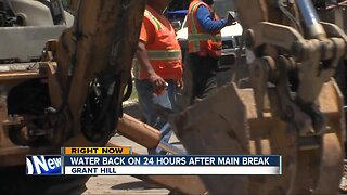 Water back on 24 hours after main break