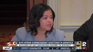 Baltimore County Public Schools interim superintendent questioned in Annapolis - Video