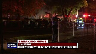 3 children killed, 4 others hurt in Lansing house fire