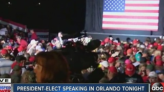 President-Elect Trump brings 'Thank You' tour to Orlando on Friday - Video