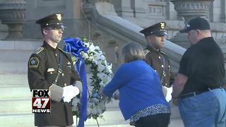Memorial Honors fallen officers - Video