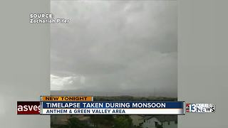 Timelapse taken during monsoon in August - Video