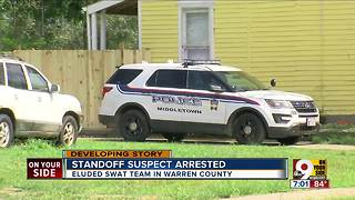 Standoff suspect arrested - Video
