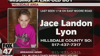 9-year-old missing from Hillsdale County - Video
