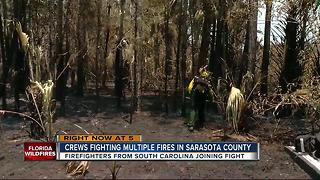 Crews continue to tackle North Port wildfire - Video