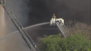 Massive fire at Whitehouse & Schapiro Recycling Plant in Baltimore - Video