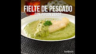 Fish Fillet with Green Pipian