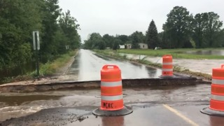Flooding Washes Away Michigan Roads - Video