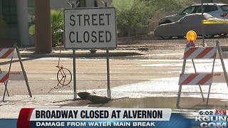 Broadway remains closed due to water main break - Video